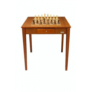"""NEW**Dal Rossi 28"""" Chess Table with 95mm weighted Chess Pieces -0"""