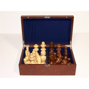 Dal Rossi Chess Piece box with 85mm weighted pieces