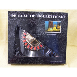 """Roulette set, deluxe, boxed, 16"""""""