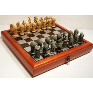 """""""Australiana"""" Theme with 75mm pieces, 45cm Chess Set Board + Storage Box"""