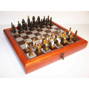 EgyptianTheme with 75mm pieces, 45cm Chess Set Board + Storage Box