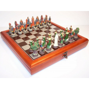 """""""Robin Hood"""" Theme with 75mm pieces, 45cm Chess Set Board + Storage Box"""