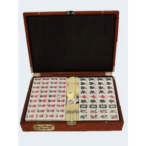 Dal Rossi Italy Mahjong Rose Wood Case 29cm 01064DR-0
