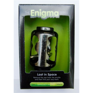 """""""Lost in Space""""-Enigma Series Puzzles metal mind teaser puzzles. -0"""
