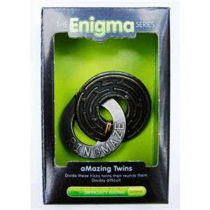 """""""Amazing Twins""""-Enigma Series Puzzles metal mind teaser puzzles.-0"""