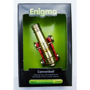 """""""Cannonball""""-Enigma Series Puzzles metal mind teaser puzzles. -0"""