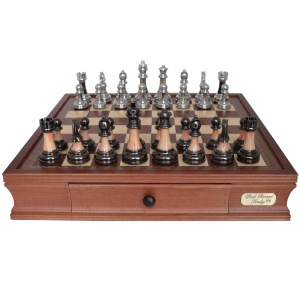 Dal Rossi Italy Metal/Marble Finish Chess Set - 2026DR-0