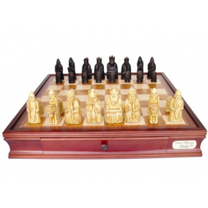 """Dal Rossi Italy """"Isle of Lewis"""" Chess Set with 20"""" Chessbox with drawers - 2029-0"""