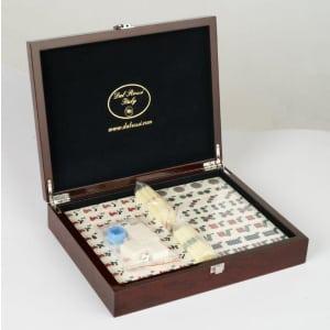 Dal Rossi Italy Mahjong 29cm - in Mahogany Finish Case O1063DR-0