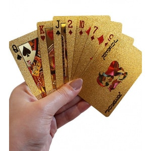 Dal Rossi Italy Luxury 24k 99.9% Genuine Gold Plated Playing cards.-0
