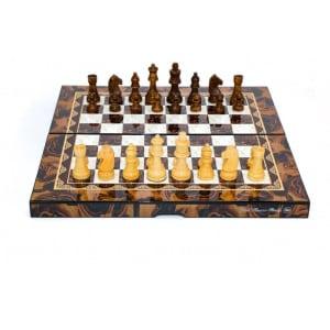 """Dal Rossi Mosai Finish Folding Chess Set, 16""""-0"""