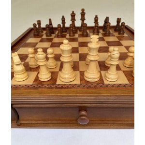 """Dal Rossi Chess Set 20"""", With Wooden Chess Pieces-2243"""
